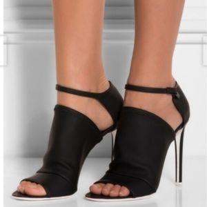Balenciaga Black Neoprene Sandal Stilettos 40